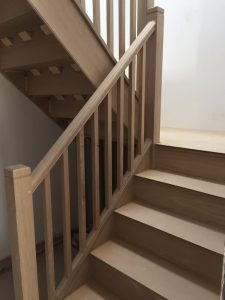 Bespoke wooden staircase handmade by RC Carpentry & Renovations Brighton