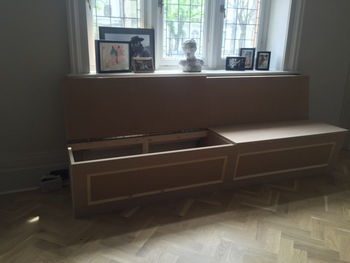 Bespoke wooden bench by RC Carpentry Brighton