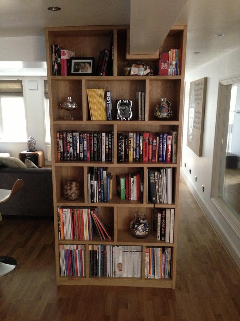 Bespoke book shelf - RC Carpentry & Renovations Brighton Sussex