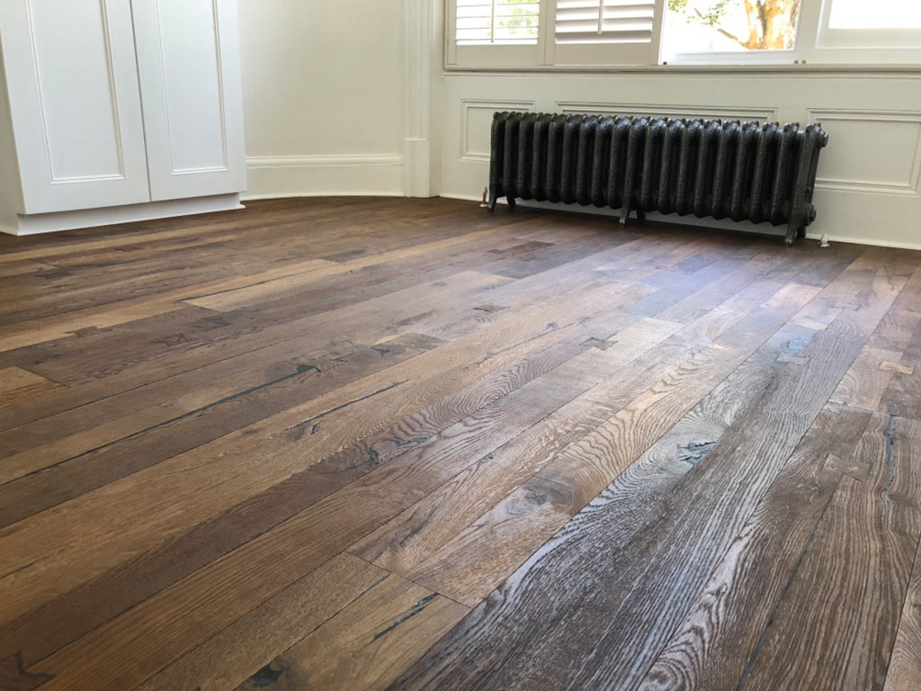 Oak-wooden-flooring-and-replacement-victorian-radiator-Hove